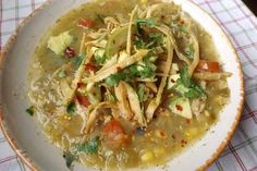 Roasted Green Chile Chicken Tortilla Soup