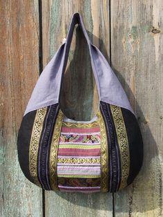 """Купить Сумка-хобо""""Восточная ночь""""(этно,бохо) - чёрный, орнамент, пейсли, восточный стиль, этно, бохо"""