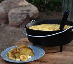Dutch Oven Banana Cake. Perfect for camping!!!