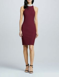 ELIZABETH AND JAMES Jade Bead-Neck Dress
