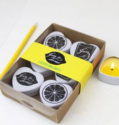 Items similar to Gin and Tonic Mini candles in a gift box. Lemon, Lime and Juniper.