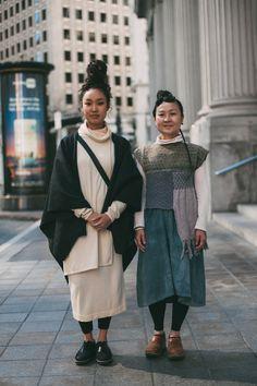 minimalist, locks, bun, dreads, japanese, fashion, street style