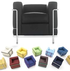 If It's Hip, It's Here: Le Corbusier Classics LC2, LC3 and LC4 Get Colorful, Courtesy Of Cassina.