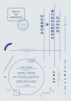 Return in the Swedish style on the Behance Network in Lines