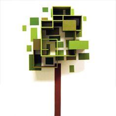 tree inspired shelves..........funky idea