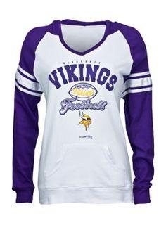 LADIES RAGLAN HOODED VIKINGS TEE Viking Shirt c85e31fa7