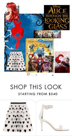 """""""Alice"""" by amiraahmetovic ❤ liked on Polyvore featuring Alice + Olivia, Gianvito Rossi, Disney, contestentry and DisneyAlice"""