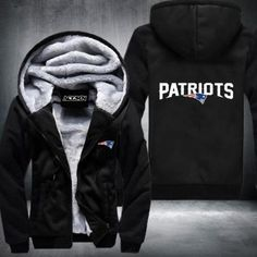 #1 Cool New NFL New England Patriots Thick Fleece Jacket
