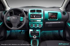 I would die to have my interior changed to this teal color!