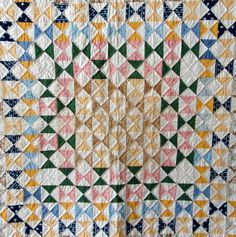 Hourglass QUILTS. -Half square triangles/ QUILTS on Pinterest | Hourglass, Quilts and French General Old Quilts, Antique Quilts, Scrappy Quilts, Vintage Quilts, Baby Quilts, Scrap Fabric Projects, Fabric Scraps, Half Square Triangle Quilts, Bonnie Hunter