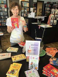Judy Blume with Beverly Cleary books