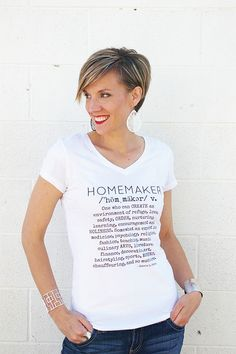 Homemaker tshirt - brassyapple.com Elevate the WORD