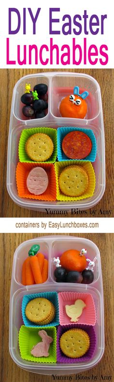 Two Easter themed DIY Lunchables