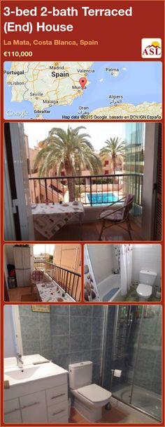 3-bed 2-bath Terraced (End) House in La Mata, Costa Blanca, Spain ►€110,000 #PropertyForSaleInSpain