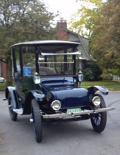 1917 Electric Brougham by Detroit Electric.