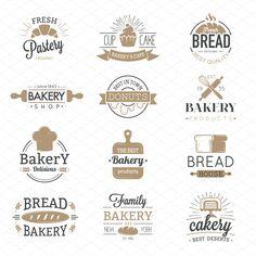 Bakery badges and logo icons thin modern style vector collection set. Retro bakery labels, logos and badges icons. Bakery badges design elements isolated on white background Bakery Branding, Bakery Logo, Branding Design, Coffee Shop Signage, Bakery Icon, Banner Design Inspiration, Badge Icon, Cake Logo Design, Free Logo Templates