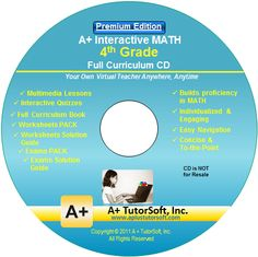 4th grade CD A+ TutorSoft Math curriculum review by C Family of 6