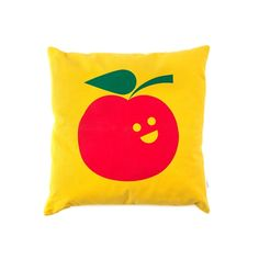BD Apfel pillow Big Design, Graphic Design Studios, Manzanita, Pillows, Illustration, Designers, Products, Illustrations, Cushions
