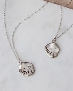 Get Out The Vote, Rock The Vote, Alternative Engagement Rings, Natural Diamonds, Sterling Silver Chains, Bridal Jewelry, Just For You, Pendant Necklace, Creative Design