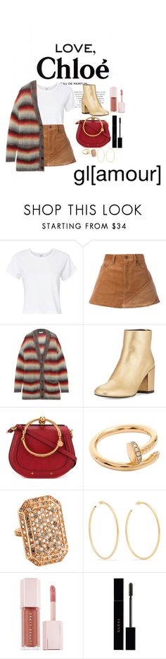 """""""Untitled #188"""" by xoutfiter ❤ liked on Polyvore featuring Chloé, RE/DONE, Marc Jacobs, Stuart Weitzman, Cartier, Jennifer Fisher, Puma and Gucci"""