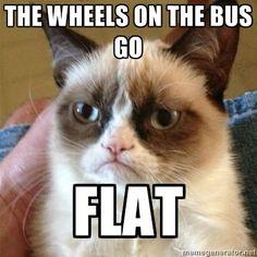 Flat. They go flat.