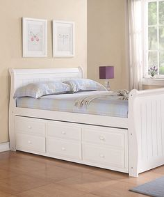 Buy Our Schoolhouse White Full Size Captains Bed By Ne