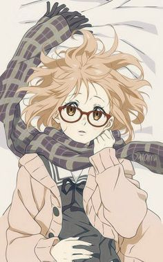 kyoukai no kanata, anime, and mirai kuriyama image