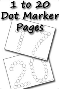 New Number Dot Marker Pages