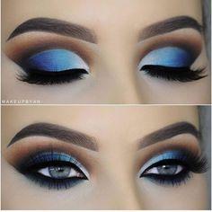 Para quem ama azul! #maquiagem #sombra #lacremania