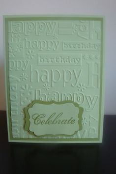Embossed Happy Birthday Card