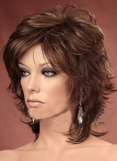 Short Wigs rule in the world of hair fashion. They are casual, beautiful and professional. Choose from our wide range of boycuts, pixie styles, wispy styles, tousled layers and neck hugging new designs this season. Short Grey Hair, Short Hair With Layers, Long Layered Hair, Short Cut Wigs, Short Hair Cuts, Short Hairstyles For Thick Hair, Wig Hairstyles, Medium Hair Styles, Curly Hair Styles