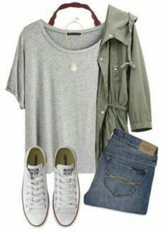 This is a really cute outfit !!!!!! I REALLY want that green jacket !!!!!!!!!!!!
