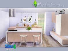 Nuance kitchen by SIMcredible! at TSR via Sims 4 Updates