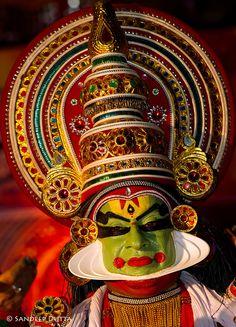 Kathakali Dancer - Kerala, Southern India