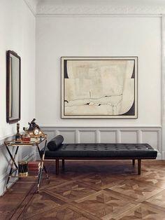 Minimal + masculine interior. @thecoveteur