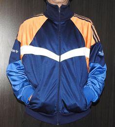 "True Vintage Adidas Track Jacket 1980s Retro Festival Size 6'1"" (L) 180 D7 | eBay"