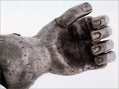 A rare German prosthetic hand (detail, ca. 1580).