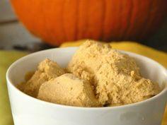 Pumpkin coconut ice cream for Fall!