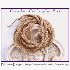 Crochet & Craft: HOW TO MAKE ROPE FOR CORD-SOLES
