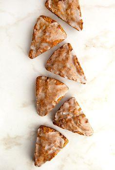 Glazed Gingerbread Scones from @somethewiser
