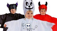simpaticissimi costumi da fantasmi, pipistrelli e diavoletti.