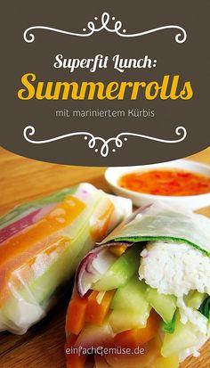 """Geniales Kürbis-Rezept: Summerrolls mit mariniertem Kürbis. Aus dem neuen Heft """"Kürbis"""" – gleich gratis anfordern bei einfachGemüse.de"""