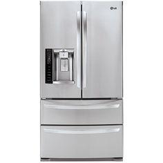 LG LMXS27626S  Stainless Steel 26.7 cu. ft. Ultra-Capacity 4 Door French Door Refrigerator