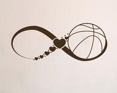 LIBRE envío amor baloncesto pared calcomanías por DecalMyHappyShop