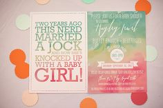 Watercolor Ombre Baby Shower. Laura and mom, this web site has some really cute ideas