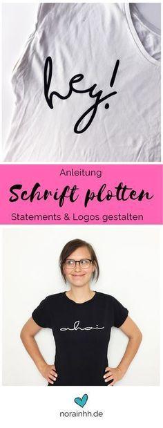 Du willst dein eigenes Logo plotten? Oder einen coolen Schriftzug auf dein T-Shirt? Kein Problem, ich zeige dir, wie das geht! Mit jeder Schrift, die dir gefällt! Die Anleitung ist für den Silhouette Cameo, aber bestimmt hilft sie dir auch bei anderen Modellen weiter :) #tutorial #diyanleitung #plotter #diyidee