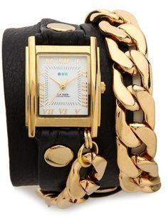 La Mer Collections Black Malibu Watch