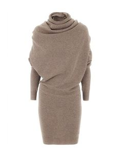 [App Clearance] Modern Cowl Neck Plain Bodycon Dress, I found a nice item on Fashionmia, open to see it.