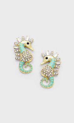 Mintylicious Seahorse Earrings