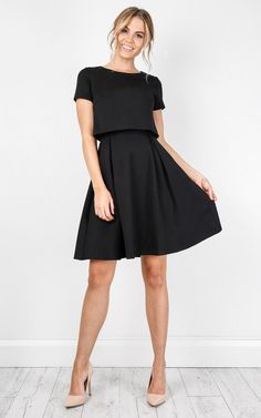 dress, black, work, a-line, showpo dress, workwear
